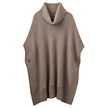 Buy Joules Oriell Roll Neck Poncho, Taupe Online at johnlewis.com