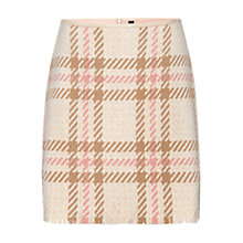 Buy Marc Cain Check A-Line Skirt, Sahara Online at johnlewis.com