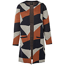 Buy Selected Femme Siva Colour Block Cardigan, Dark Sapphire Online at johnlewis.com