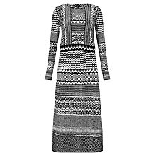 Buy Marc Cain Aztec Print Dress, Black/White Online at johnlewis.com