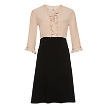 Buy Marc Cain Frill Colourblock Dress, Nude/Black Online at johnlewis.com