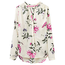 Buy Joules Rosamund Printed Blouse, Cream Hedgerow Online at johnlewis.com