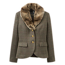 Buy Joules Willa Tweed Blazer, Isla Herringbone Online at johnlewis.com