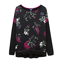 Buy Joules Kitty Floral Print Jumper, Black Online at johnlewis.com