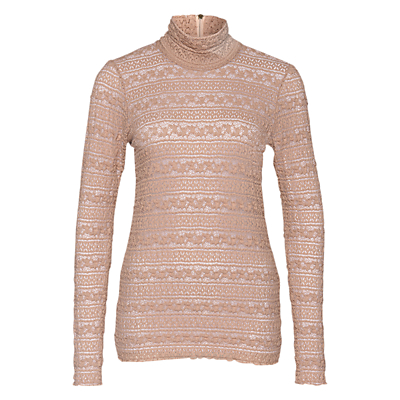 Marc Cain High Neck Lace Top, Sahara
