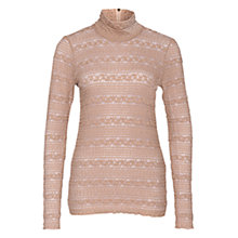 Buy Marc Cain High Neck Lace Top, Sahara Online at johnlewis.com