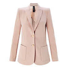 Buy Marc Cain Fitted Wool Jersey Blazer, Nude Online at johnlewis.com