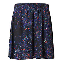 Buy Selected Femme Nisma Printed Skirt, Black Online at johnlewis.com