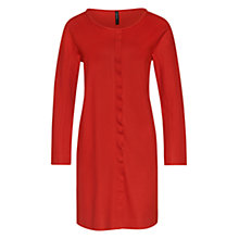 Buy Marc Cain Ruffle Front Soft Jersey Dress, Red Ochre Online at johnlewis.com