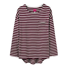 Buy Joules Bay Jersey Top, Burgundy Stripe Online at johnlewis.com
