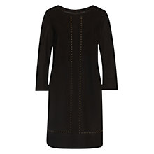 Buy Marc Cain Stud Detail Dress, Dark Morrow Online at johnlewis.com