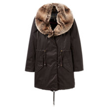 Buy Joules Swanson Faux Fur Collar Coat, Finch Online at johnlewis.com