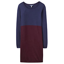 Buy Joules Hetty Colour Block Tunic Top, Navy/Burgundy Online at johnlewis.com