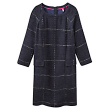 Buy Joules Esther Large Check Dress, Navy Boucle Online at johnlewis.com