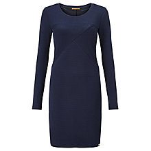 Buy BOSS Orange Derbody Ribbed Bodycon Dress, Dark Blue Online at johnlewis.com