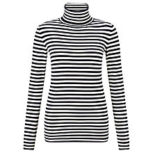 Buy BOSS Orange Ismilla Stripe Jumper, Black/White Online at johnlewis.com