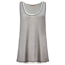 Buy BOSS Orange Terparty Double Layer Top, Grey Online at johnlewis.com