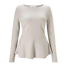Buy BOSS Finola Peplum Jumper, Cream Online at johnlewis.com
