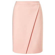 Buy BOSS Vylea Wrap Pencil Skirt, Pink Online at johnlewis.com