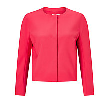 Buy BOSS Jyleana Cropped Blazer, Raspberry Online at johnlewis.com