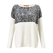 Buy BOSS Orange Wendetta Texture Detail Jumper, Cream Online at johnlewis.com
