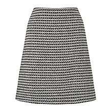 Buy BOSS Marelia Herringbone Tweed Skirt, Black/White Online at johnlewis.com