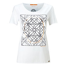 Buy BOSS Orange Tishirt Graphic Print T-Shirt, White Online at johnlewis.com