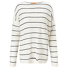 Buy BOSS Orange Wendelly Stripe Jumper, Cream Online at johnlewis.com