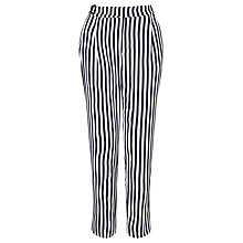 Buy BOSS Orange Salanja Stripe Trousers, Navy/White Online at johnlewis.com