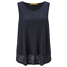 Buy BOSS Orange Toptopi Double Layer Top, Navy Online at johnlewis.com