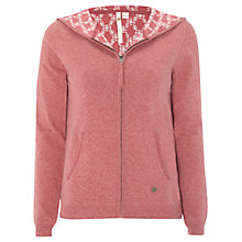 Buy White Stuff Tally Zip Hoodie, Rogue Pink Online at johnlewis.com