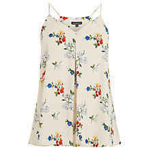 Buy Warehouse Spaced Floral Cami Top, Birch Online at johnlewis.com