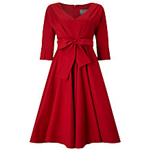 Buy Phase Eight Taylor Tie Front Dress, Red Online at johnlewis.com