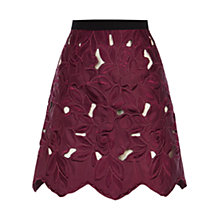 Buy Coast Ria Lace A-line Skirt, Merlot Online at johnlewis.com