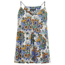 Buy Warehouse Printtile Print Cami Top, Neutral Online at johnlewis.com
