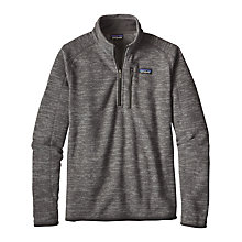 Buy Patagonia Better Sweater 1/4 Zip Heathered Fleece, Nickel Online at johnlewis.com
