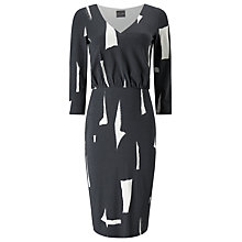 Buy Phase Eight Costa Rica Dress, Charcoal/Ivory Online at johnlewis.com