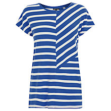 Buy Warehouse Stripe Cutabout Top, Blue Online at johnlewis.com