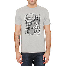 Buy Original Penguin Speech Bubble Pete T-Shirt, Rain Heather Online at johnlewis.com