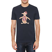 Buy Original Penguin Gingerbread Pete T-Shirt, Dark Sapphire Online at johnlewis.com