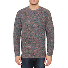 Buy Original Penguin Mixed Yarn Crew Neck Merino Jumper, Reflecting Pond Online at johnlewis.com