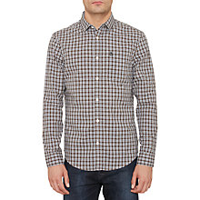 Buy Original Penguin Check Shirt, Dark Shadow Online at johnlewis.com