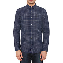 Buy Original Penguin Irregular Check Shirt, Dark Sapphire Online at johnlewis.com