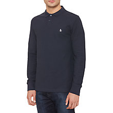 Buy Original Penguin Long Sleeve Winston Polo Shirt, Dark Sapphire Online at johnlewis.com