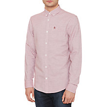 Buy Original Penguin Jasper Fabric Shirt, Pomegranate Online at johnlewis.com