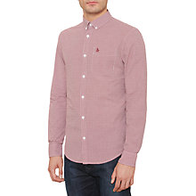 Buy Original Penguin Mini Gingham Long Sleeve Shirt, Pomegranate Online at johnlewis.com