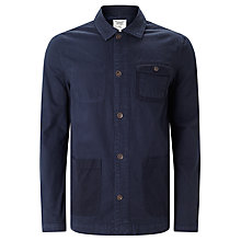 Buy Original Penguin Cotton Overshirt, Dark Sapphire Online at johnlewis.com