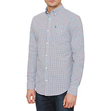 Buy Original Penguin Gingham Check Shirt, Mosaic Blue Online at johnlewis.com