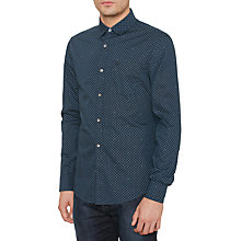 Buy Original Penguin Pin Dot Shirt, Dark Sapphire Online at johnlewis.com