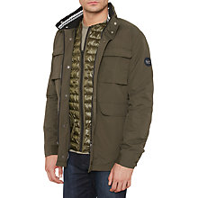 Buy Original Penguin Original 3-In-1 Detachable Gilet Jacket, Dusty Olive Online at johnlewis.com
